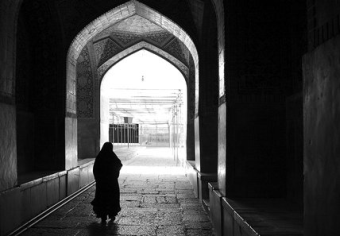Woman in a Mosque