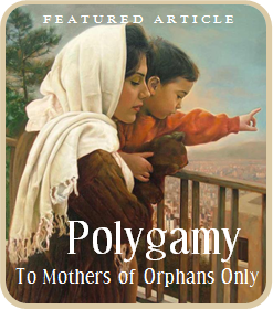 Polygamy - To Mothers of Orphans Only
